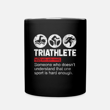Triathlon Triathlete triathlon sport natation vélo de course - Mug uni