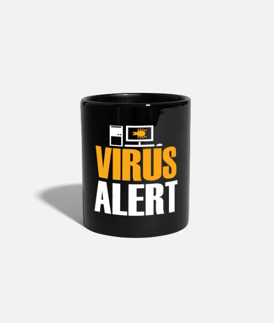Virus Mugs & Drinkware - Virus Alert developer gift saying - Mug black