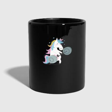 Funny Unicorn Gym - Taza de un color
