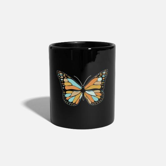 Spring Mugs & Drinkware - Butterfly Monarch Retro Spring Sweet Gift - Mug black