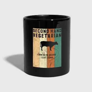 second hand Anti Vegetarier Design - Tasse einfarbig