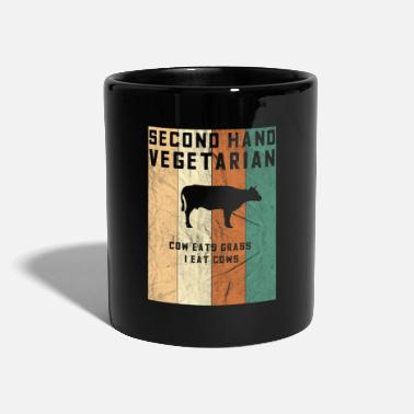 Vegetarier second hand Anti Vegetarier Design - Tasse einfarbig