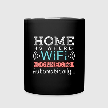 Home is Where Wifi connects automatically Wlan - Full Colour Mug