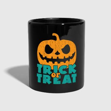 Trick or treat gift Halloween saying - Full Colour Mug