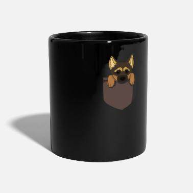German Shepherd German shepherd puppy in bag gift - Full Colour Mug