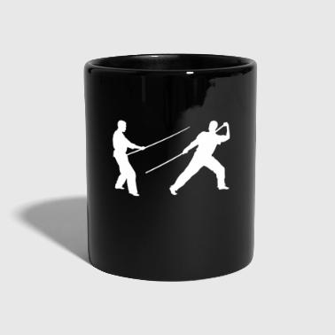 Stick fighting long stick - Full Colour Mug