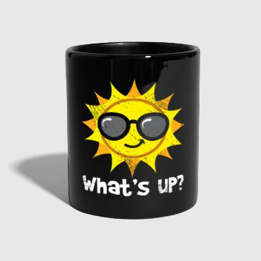Sun with sunglasses Whats up kids - Full Colour Mug