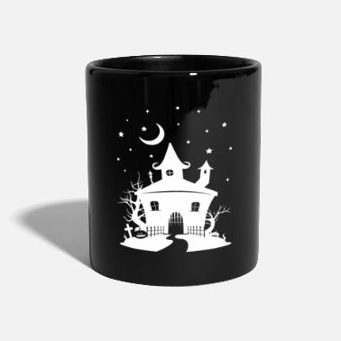 Haunted House Haunted House, scary house Halloween haunted house - Full Colour Mug