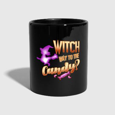 Halloween shirt women girl sweets witch - Full Colour Mug