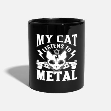 Heavy My cat listens to metal - Tasse