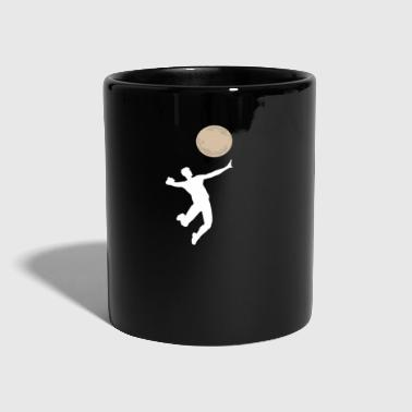 Volleyball gioco Funny moon serve idea regalo - Tazza monocolore