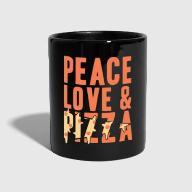 Peace Love en Pizza Gift Christmas - Mok uni