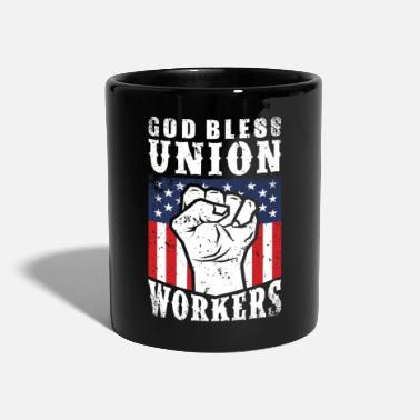 God Bless Union Workers Pro Union Worker Protest Dark - Full Colour Mug
