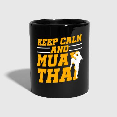 Keep Calm And Keep Calm Muay Thai Kickboxing Champion Gift - Kubek jednokolorowy