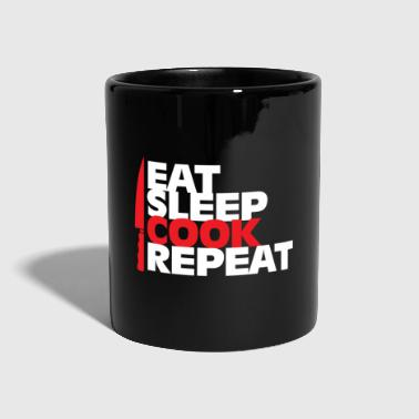 Lepel Eet Sleep Cook Repeat Gift Christmas - Mok uni