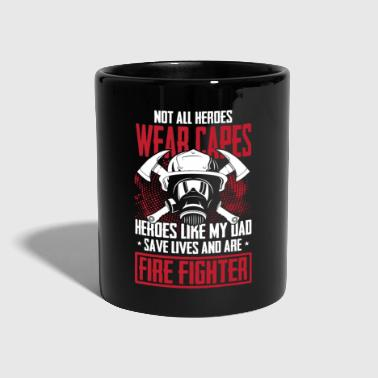 Hero Not all heroes wear capes firefighter gift - Full Colour Mug