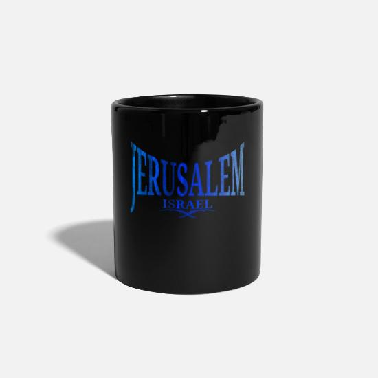 Gift Idea Mugs & Drinkware - Israel Jerusalem Nation - Mug black