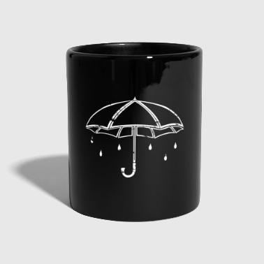 Rain white umbrella gift children rain - Full Colour Mug