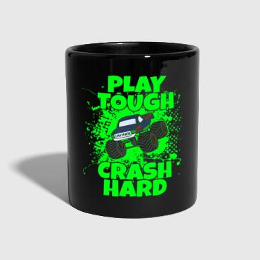 Camión Monster trucks divertidos con splash verde - Taza de un color