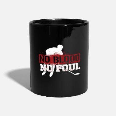 Foul Hockey Shirt Funny No blood no foul - Full Colour Mug