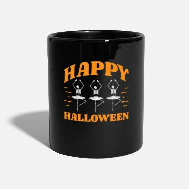 Apocalypse Happy Halloween Skeleton Dancing Ballet - Full Colour Mug