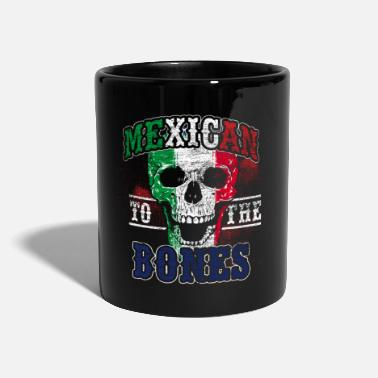 Mexico By Mexico Skull Flagg Pirate Halloween Gift - Ensfarget kopp