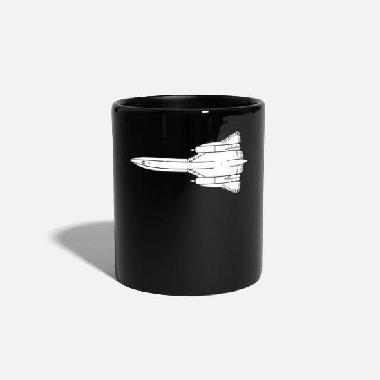 Birthday Mugs & Drinkware - SR 71 Blackbird plane gift - Mug black