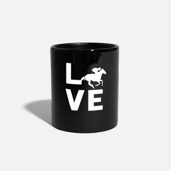 Hobbykoch Tassen & Becher - HORSE RACING LOVE - Graphic Shirt - Tasse Schwarz