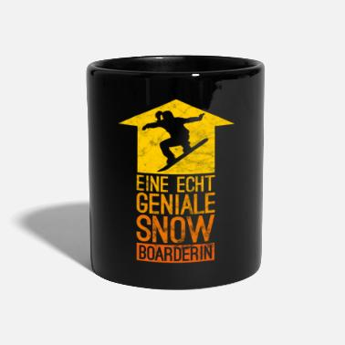 Demi-lune Cool Snowboarder Freestyle Women Fun Gift - Mug uni
