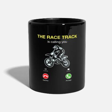 Race Track Motocross The Race Track Is Calling - Mug
