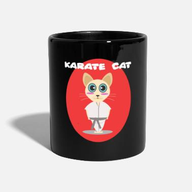 Karate Karate Cat Cat Kitty Meow Sports træning - Ensfarvet krus