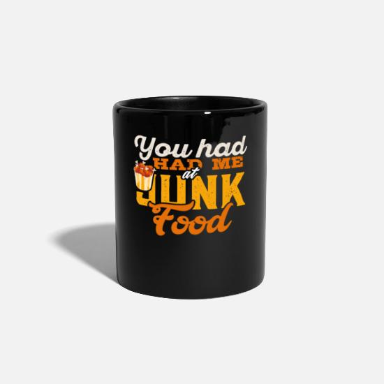 Saucisse Grillée Mugs et récipients - Junk Food Burger Hunger Cheeseburger Fast Food - Mug noir