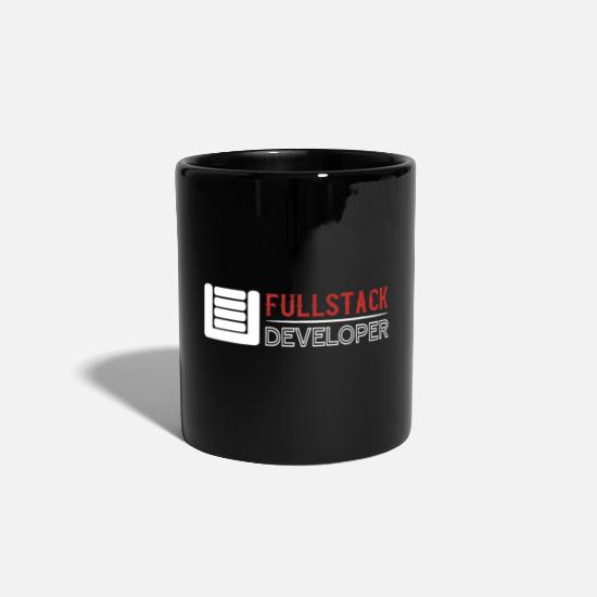 Coder Mugs & Drinkware - FULLSTACK DEVELOPER | FULL STACK DEVELOPER - Mug black