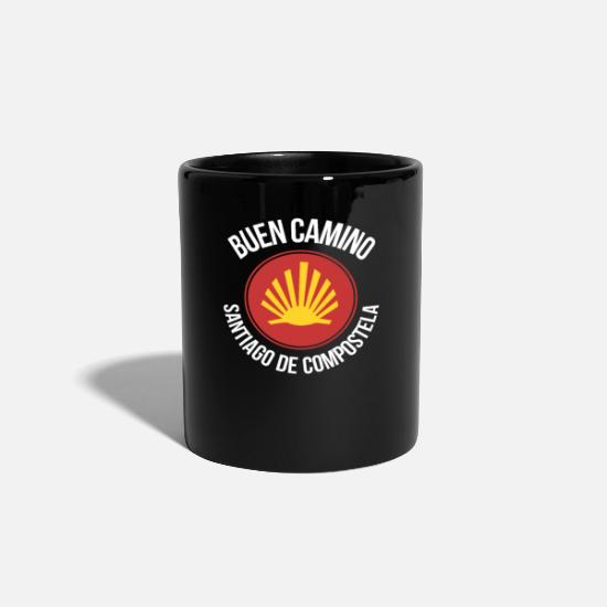 Scallop Mugs & Drinkware - Way of Santiago Buen Camino - Mug black