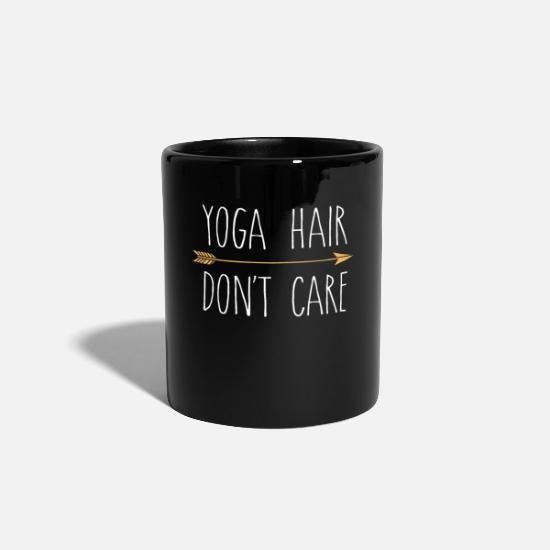 Yoga Mugs & Drinkware - Yoga Hair Don't Care Cute Funny Yoga Gift - Mug black