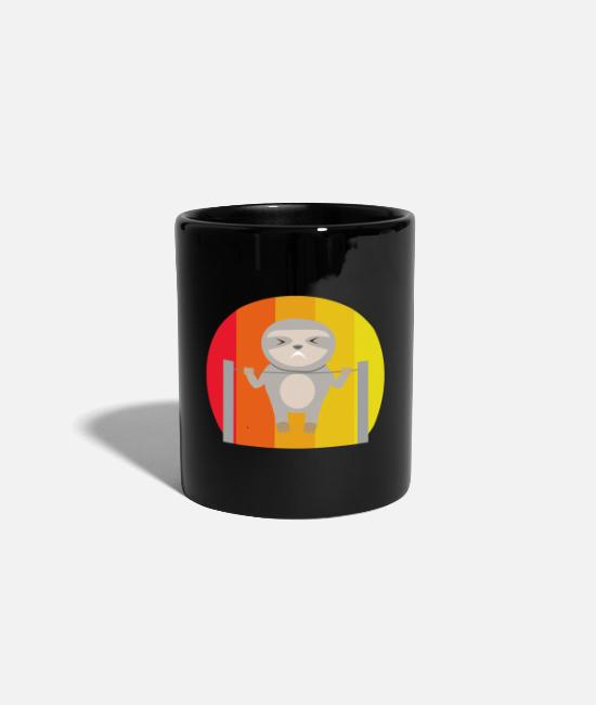 Birthday Mugs & Drinkware - Sloth Sport Pull ups Hang Fit - Mug black