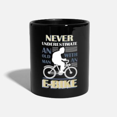 Bicycle Never underestimate an old man with an EBike - Mug