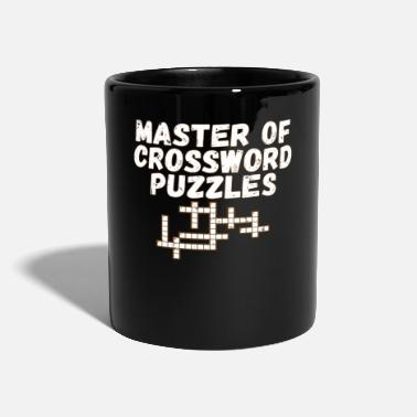 Puzzel Master of Crossword Puzzles Fun Puzzle Lover Gift - Kubek