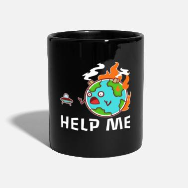 Exhaust Gases Earth Day Climate Change - Help Me - Mug
