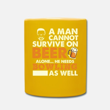 Craft Beer A Man Cannot Survive On Beer Alone He Needs - Mug