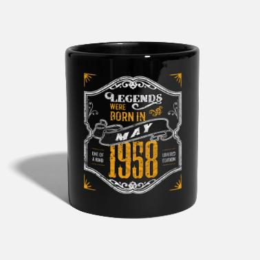 Unikt Exemplar Legends föddes i maj 1958 Awesome Birthday - Mugg