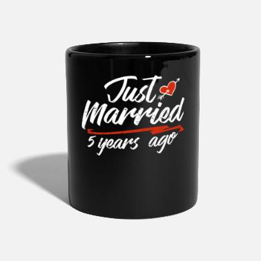 China Just Married 5 Year Ago Funny Wedding Anniversary - Mug