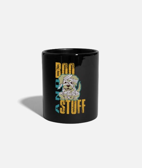 Lantern Mugs & Drinkware - Halloween dog gift cute puppy mummy zombie - Mug black