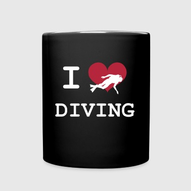 I Love Diving - Taza de un color