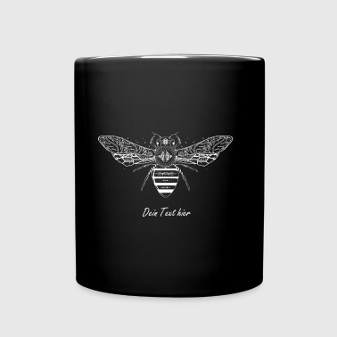 artfully designed white bee - Full Colour Mug