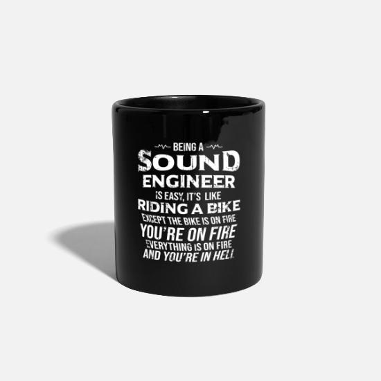 Studio Mugs & Drinkware - Sound Engineer Shirt I Solve Problems Gift Audio - Mug black