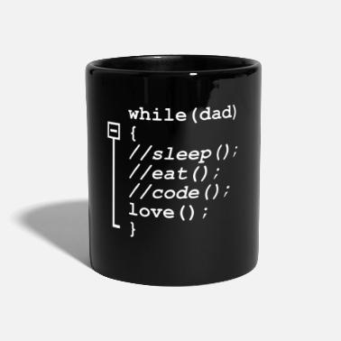 Coder Programmer Dad Sleep Eat Code Funny - Tasse