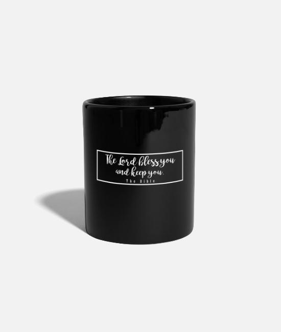 Bless You Mugs & Drinkware - The lord bless you and of you - Mug black