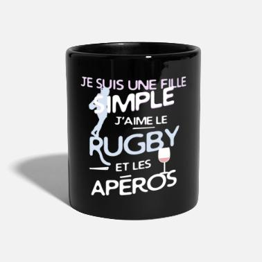 Rugby Rugby / rugbywoman - une fille simple - Mug