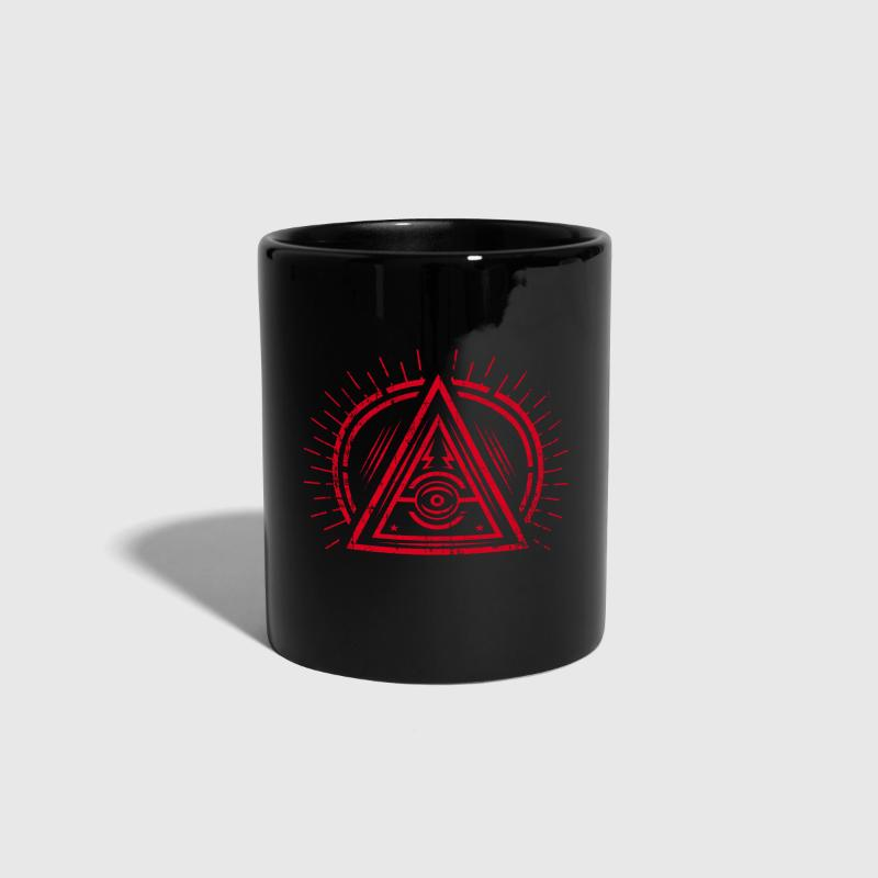 Illuminati - All Seeing Eye - Satan / Black Symbol - Full Colour Mug